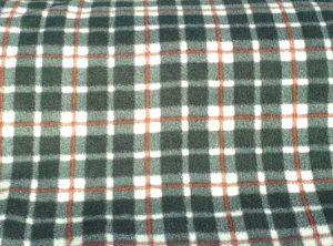 Black, White & Red tartan fabric