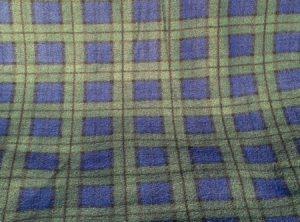 Blue & Green tartan fabric