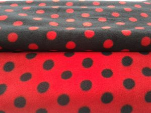 Red & black dots fabric