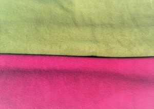 Olive green & dark pink fabric