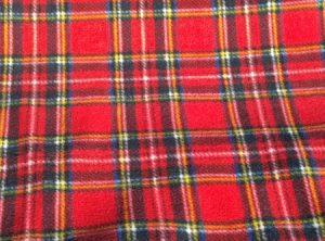 Red Stewart Tartan fabric