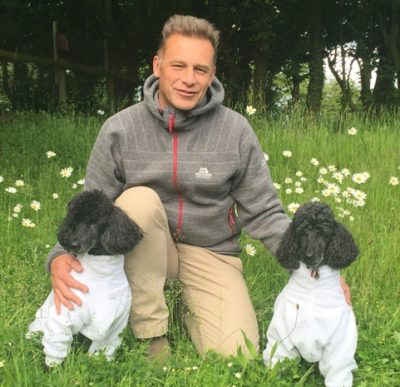 Chris packham with his K9 CleanCoats